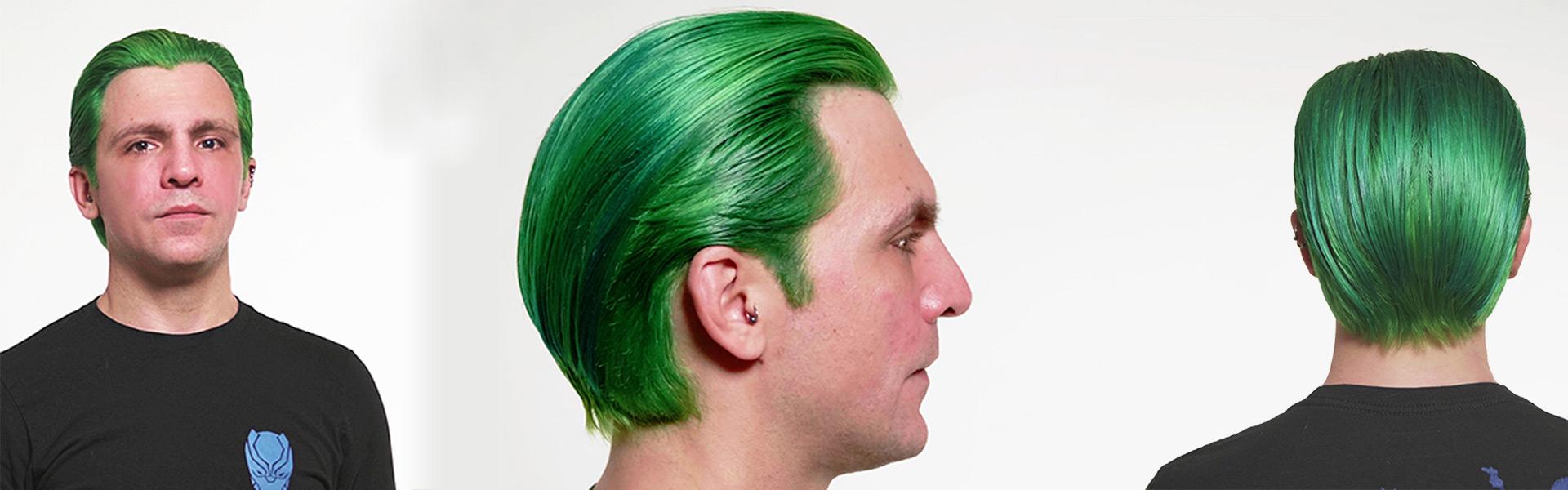 globalfaerbung modell grüne haare